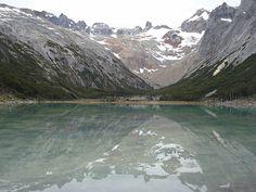 Laguna Esmeralda. Detrás glaciar El ojo del Albino. - Foto de Ushuaia