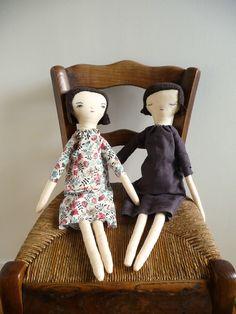 Handmade cotton rag doll