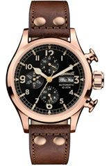 Ingersoll Armstrong automatic IP rose gold-plated stainless steel and leather chronograph watch Luxury Watches For Men, Black Crystals, Automatic Watch, Stainless Steel Case, Rose Gold Plates, Chronograph, Leather, Accessories, Munich