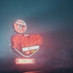 Quick night fog test #phils #gas #station #cinema #c4d #cinema4d #render #octanerender #photoshop #daily #3d #graphics #graphic #design #abstract #art #surreal #mist #sign #road #desert #scifi #future #realistic #retro #neon #night