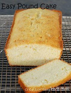 Easy Pound Cake Recipe: Perfect for trifle and strawberry shortcake! #cake #recipe from creationsbykara.com