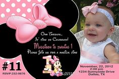Invitaciones de Minnie Mouse de bebé - Imagui