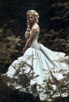 Sasha Pivovarova in Vogue Italia September 2007 by Paolo Roversi