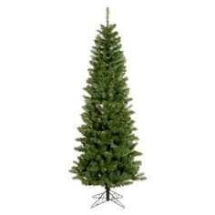 Salem Pencil Pre-lit Christmas Tree with Metal Stand - A103046LED ...