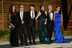 Bono Photos Photos - (L-R) Businesswoman Ali Hewson, musician Bono, musician The Edge, choreographer Morleigh Steinberg, musician Adam Clayton, and model Mariana Teixeira De Carvalho attend the 2014 Vanity Fair Oscar Party hosted by Graydon Carter on March 2, 2014 in West Hollywood, California. - Stars at the Vanity Fair Oscar Party