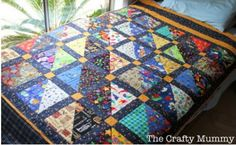 How to make a patchwork quilt. I Spy Quilt Tutorial - Step 3 Quilting Tutorials, Quilting Projects, Quilting Designs, Quilting Ideas, I Spy Quilt, Quilting Board, Quilt Patterns Free, Block Patterns, Easy Quilts
