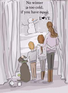 Enough LOVE- Family Wall Art Print -Winter Wall Art - Digital Art Print - Wall…