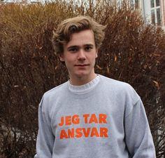 """I take resposibility."" The meaning behind Tarjei wearing this shirt is wonderful. It's part of a campagne ""ja betyr ja"" which prevents rape. (especially during russ time I think, but I'm not sure). The fact that Tarjei is supporting this campagne makes me so happy. He is honestly a beautiful person inside & out."