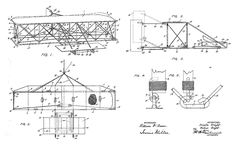 wright brothers timeline   The patent drawings for the Wright's 1906 patent, the grandfather ...