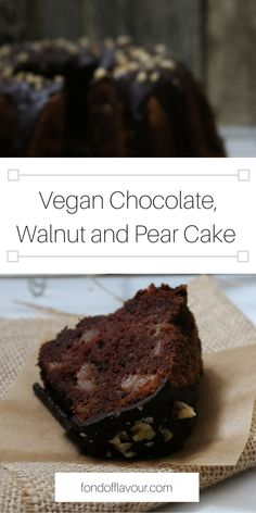This is the perfect cake for autumn and winter days. A hint of cinnamon, in the combination with chocolate and pear will just make cold and windy days so much cozier... #vegan #recipe #chocolate #baking