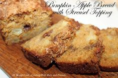 Cooking With Mary and Friends: Pumpkin Apple Bread with Streusel Topping