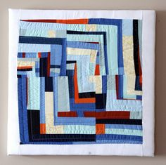 blue quilt squares by Sarah Stearns, via Flickr