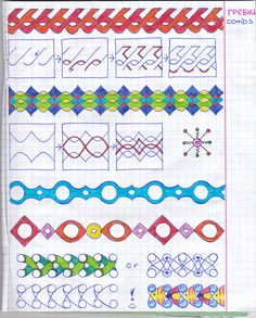 more boarders design ideas Zentangle Drawings, Doodles Zentangles, Doodle Drawings, Doodle Designs, Doodle Patterns, Zentangle Patterns, Tangle Doodle, Zen Doodle, Doodle Art