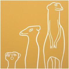 Art prints | Animal Art | Jane Bristowe - Meerkats