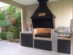 Garden Ideas For Tight Spaces - Outdoor Kitchen Patio, Outdoor Kitchen Design, Patio Design, Outdoor Living, Garden Design, Outdoor Barbeque, Bbq, Built In Braai, Dirty Kitchen