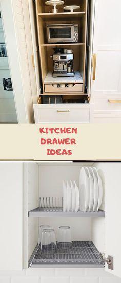 DIY Kitchen Drawer Ideas #drawers #kitchendesign Drawer Ideas, Cupboard Ideas, Diy Kitchen, Kitchen Design, Drawer Inspiration, Drawer Design, Kitchen Drawers, Cool Kitchens, Diy Home Decor