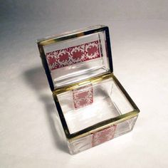 . Bohemia Crystal, Crystal Box, Glass Boxes, Clear Glass, Decorative Boxes, Crystals, Crystal, Decorative Storage Boxes, Crystals Minerals