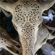 engraved skull carving - Google Search