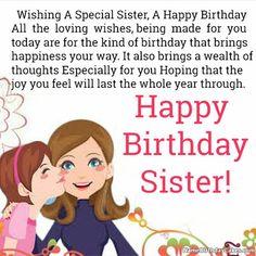 Birthday Messages For Sister, Happy Birthday Wishes Sister, Birthday Wishes For Myself, Birthday Wishes Funny, Birthday Quotes For Best Friend, Happy Birthday Quotes, Humor Birthday, Birthday Greetings, Diy Birthday