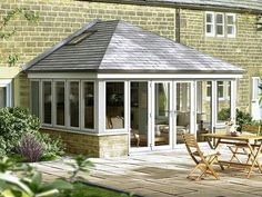 Extension with tiled roof