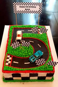 Number 5 race track cake                                                                                                                                                      More