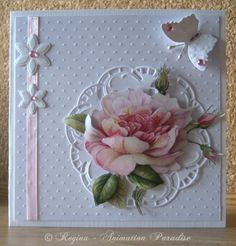 Tender Rose Card I made today with Creatables