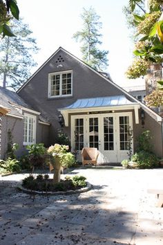 Atlanta Home Metal Roof Design, Pictures, Remodel, Decor and Ideas Roof Design, Exterior Design, Brick Design, Exterior Colors, Patio Design, Exterior Paint, Canvas Awnings, Metal Awnings For Windows, Fresco