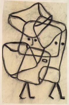 | Paul Klee (1879 - 1940) | Burdened Children Belastete Kinder (1930) | Graphite, crayon and ink on paper on board | 650 x 458mm
