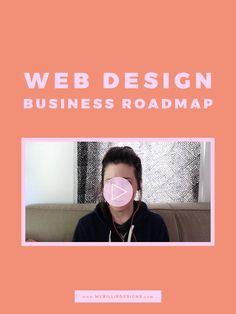 Web Design Business Roadmap — My Billie Designs Web Design Services, Web Design Trends, Design Web, Graphic Design, Business Design, Business Tips, Business Website, Email Marketing Lists, Digital Marketing