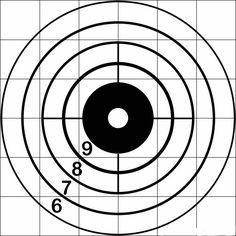 free printable shooting target # 13