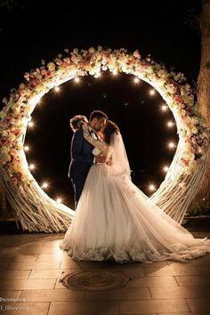 wedding flower wreath romantic-night shot michail filimonov