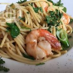 Recipe photo: Garlic prawn linguine