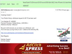 """INCOME JUST BY WATCHING ADS AND POSTING """"I WORK FROM HOME less than 10 minutes and I manage to cover my LOW SALARY INCOME. If you are a PASSIVE INCOME SEEKER, then AdClickXpress (Ad Click Xpress) is the best ONLINE OPPORTUNITY for you  And many more earnings with AdclickXpress like  GET RICH POSTING YOUR PAYOUT PROOFS AND GET REWARDS... For more details dial +917814549263 To join Click the given link :- http://www.adclickxpress.com/?r=zghjfcxb27mj&p=mx"""