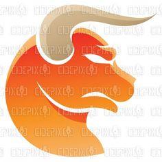 Earth Element Orange Taurus Zodiac Star Sign stock illustration
