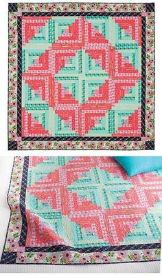 Log cabin from Keepaake Quilting