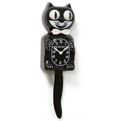 vintage black cat clock - Google Search