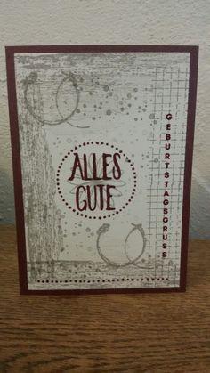 Ganz schnelle Geburtstagskarte - Stampin up - Timeless textures - Perfekt verpackt - Genial vertikal