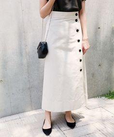 Fantastic 20 Choices Of Long Button Skirts That Make You Look More Fashionable skirt skirt skirt skirt outfit skirt for teens midi skirt Long Skirt Fashion, Casual Skirt Outfits, Modest Fashion, Hijab Fashion, Fashion Outfits, Women's Fashion, Fashion Trends, Fashion Models, Work Fashion