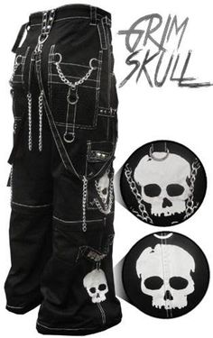 "Buy Gothic Pants Online : Black & White Tripp NYC ""Grim Skull"" Bondage Pants and Grunge Outfits, Punk Outfits, Gothic Outfits, Cool Outfits, Fashion Outfits, Alternative Mode, Alternative Outfits, Alternative Fashion, Rave Pants"