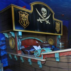 How about this for a kid's room?  A pirate bed!