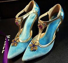 perline luccicanti cristalli scarpe da sposa tacco alto 8,5 centimetri scarpe da sposa su ordine del partito delle donne