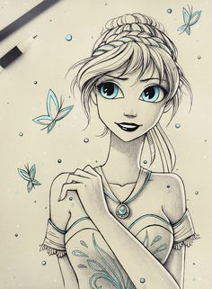 Another Disney fan art! You can also see Let it snow and  Sisters , If you like this artwork ^^