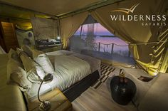 Photographic safari, team building photo safari and wildlife photography course accommodation Duma Tau, Okavango Delta, Botswana. Safari Bedroom, Tent Living, Chobe National Park, Safari Holidays, Africa Destinations, Tent Camping, Glamping, Okavango Delta, Luxury Tents
