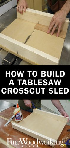Build a Super-Precise Tablesaw Crosscut Sled Technique for squaring the fence and aligning the miter bars when making a sled for cross cutting at 90 degrees.