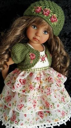 Crochet dress girl pattern american dolls 27 ideas for 2019 American Girl Outfits, American Doll Clothes, Girl Doll Clothes, Doll Clothes Patterns, Girl Dolls, American Dolls, Ag Dolls, Knitted Dolls, Knitted Hats