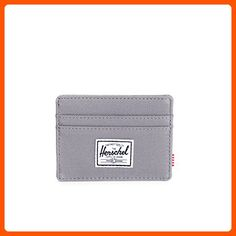 Herschel Supply Co. Men's Charlie Card Holder, Grey, One Size - Fun stuff and gift ideas (*Amazon Partner-Link)