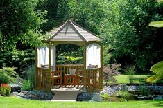 Exterior design Ideas For Modern Gazebo Garden Pavilion, Garden Gazebo, Pergola Designs, Pergola Kits, Modern Gazebo, Country Cottage Interiors, Seaside Resort, Contemporary Interior Design, Garden Furniture