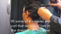 Soft Finger Waves [Video] - http://community.blackhairinformation.com/video-gallery/relaxed-hair-videos/soft-finger-waves-video/
