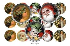 Free Stuff: Victorian Christmas Bottle Cap Images (emailed) - Listia.com Auctions for Free Stuff