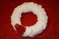Agape Love Designs: Poufy Yarn Christmas Wreath {Tutorial}